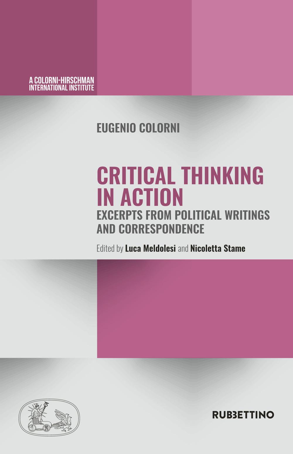 Eugenio Colorni, Critical Thinking in Action